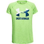Under Armour Girls' Big Logo Soccer T-Shirt