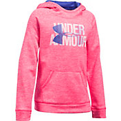 Under Armour Girls' Armour Fleece Printed Big Logo Hoodie