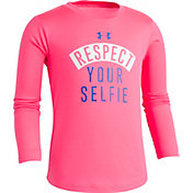 Under Armour Little Girls' Respect Your Selfie Graphic Long Sleeve Shirt