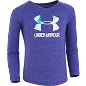 Under Armour Little Girls' Split Logo Thermal Long Sleeve Shirt