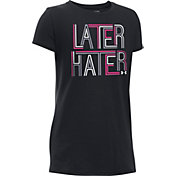 Under Armour Girls' Later Hater Graphic T-Shirt
