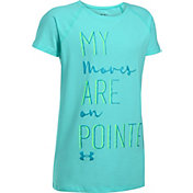 Under Armour Girls Moves On Pointe Graphic Dance T-Shirt