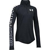 Under Armour Girls' Threadborne 1/4 Zip Long Sleeve T-Shirt