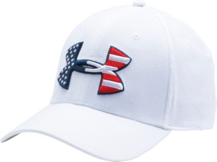 Under Armour Men s Big Flag Logo Stretch Fit Hat 2.0  af3ade82e2e