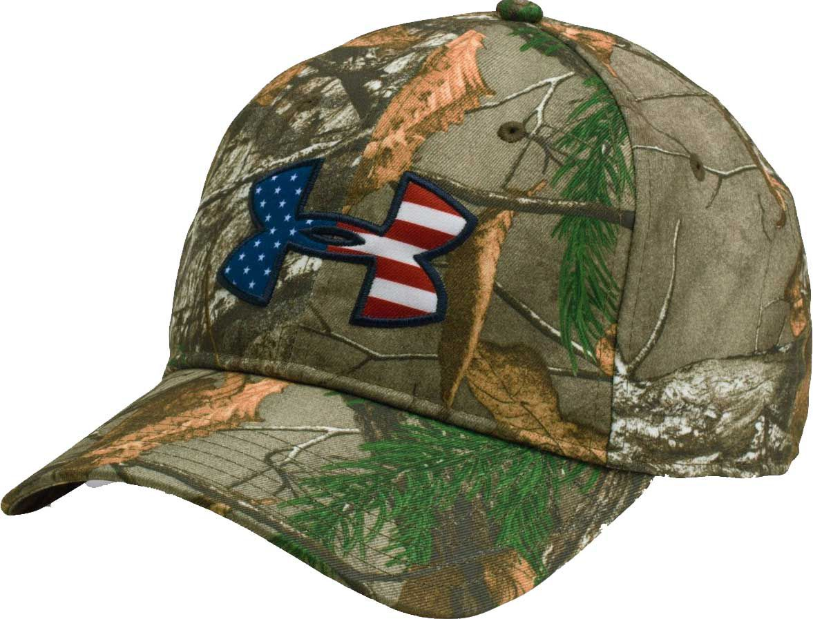 Under Armour Men's Big Flag Camo Hat, Brown