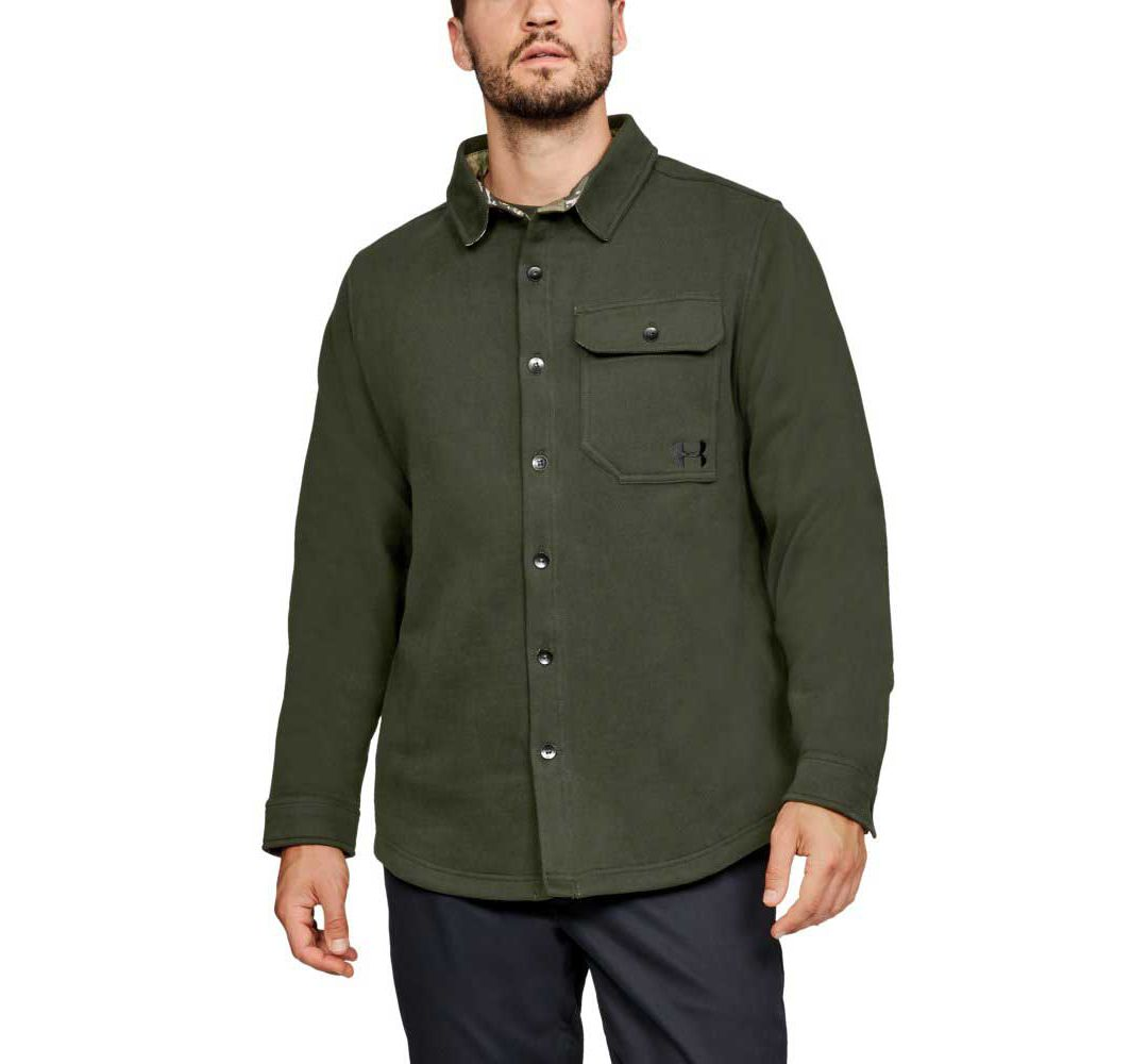 cff231a0 Under Armour Men's Buckshot Button Up Fleece Jacket