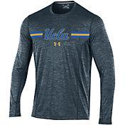Under Armour Men's UCLA Bruins Grey Football Sideline Training Long Sleeve Shirt