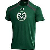 Under Armour Men's Colorado State Rams Green Threadborne Vented Tech T-Shirt