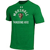 Under Armour Men's Marshall Thundering Herd Green Tri-Blend Performance T-Shirt