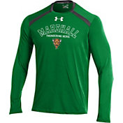 Under Armour Men's Marshall Thundering Herd Green Threadborne Vented Tech Long Sleeve Shirt