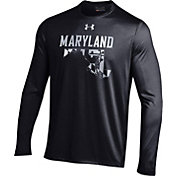 Under Armour Men's Maryland Terrapins 'Maryland Pride' Black Long Sleeve Tech T-Shirt
