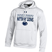 Under Armour Men's Penn State Nittany Lions White Armour Fleece Hoodie