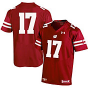 Under Armour Men's Wisconsin Badgers Red #17 Football Jersey