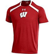 Under Armour Men's Wisconsin Badgers Red Threadborne Vented Tech T-Shirt