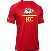 Under Armour NFL Combine Authentic Men's Kansas City Chiefs Lockup Logo Tech Red T-Shirt