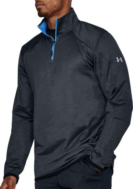 568d81aa4b6 Under Armour Men s ColdGear Reactor 1 4 Zip Long Sleeve T-Shirt ... under  armour coldgear golf sweater
