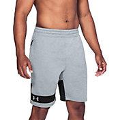 Under Armour Men's MK-1 Terry Fleece Sweat Shorts in Steel/Black