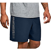 096ed46a2 Product Image · Under Armour Men's Woven Wordmark Graphic Shorts. Academy ·  Red · Black