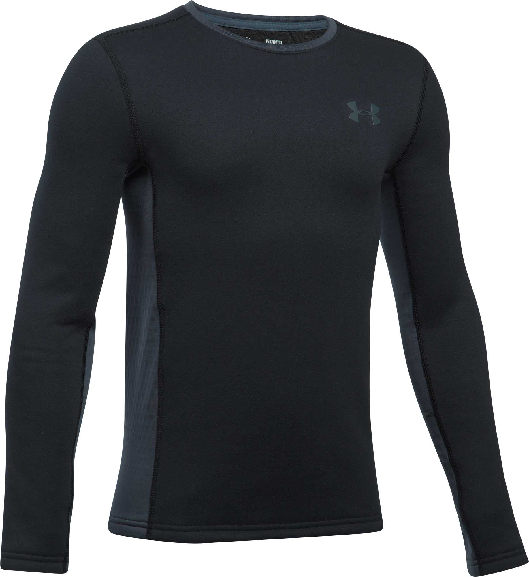 Under Armour Youth Extreme Base Layer Long Sleeve Shirt, Boys', Small, Black