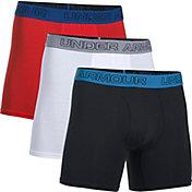 Under Armour Men's Cotton Stretch 6'' Boxer Briefs 3-Pack