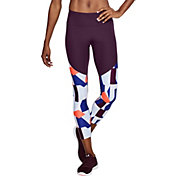 Under Armour Women's Threadborne Microthread Balance Printed Crop Tights