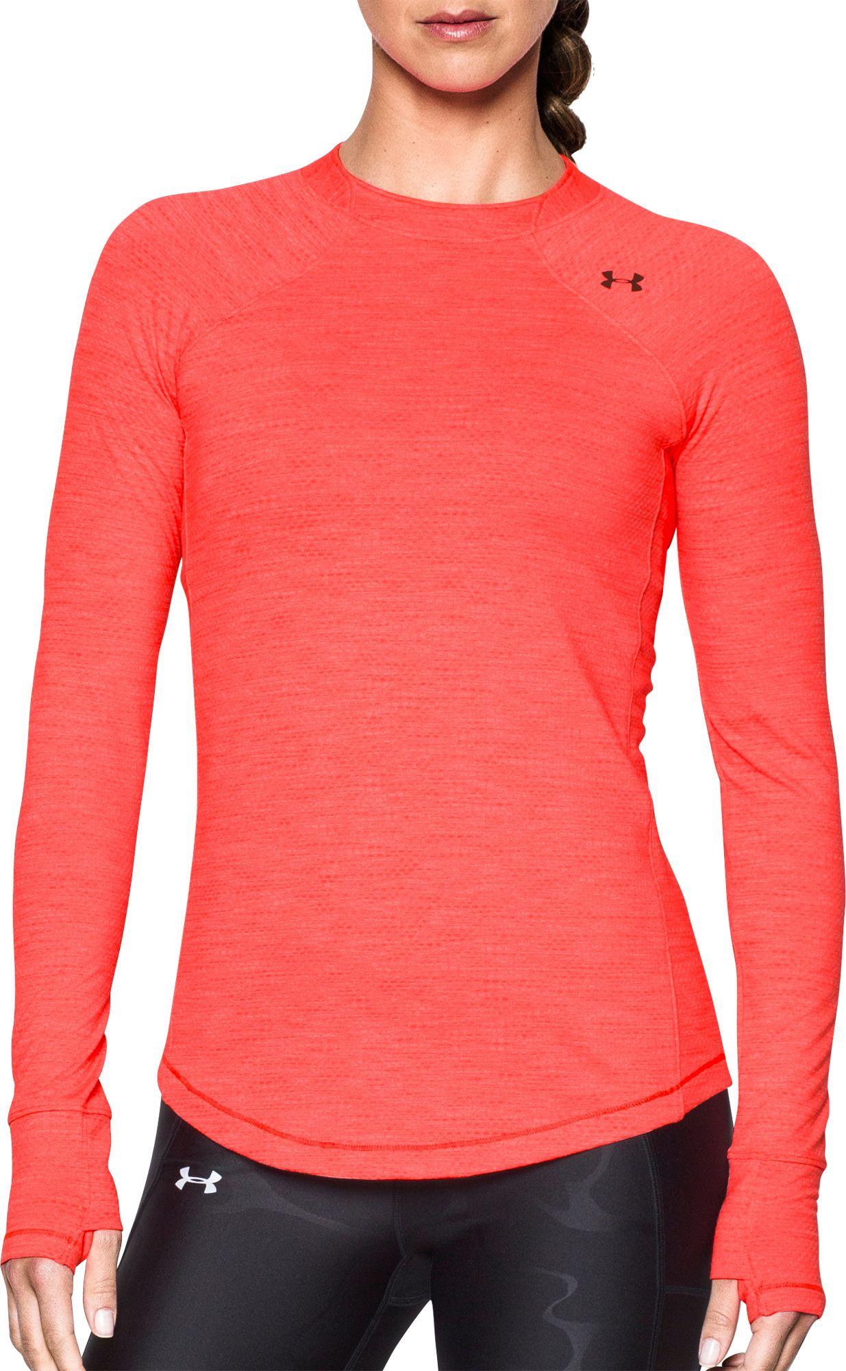 Under Armour Women's ColdGear Armour Crew Long Sleeve Shirt, Size: XS, Marathon Red thumbnail