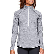 Under Armour Women's ColdGear Armour 1/2 Zip Long Sleeve T-Shirt