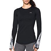 Under Armour Women's ColdGear Armour Graphic Crew Long Sleeve T-Shirt