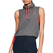 Under Armour Women's Featherweight Fleece Sleeveless Funnel Neck Hoodie