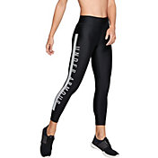 Under Armour Women's HeatGear Armour Branded Ankle Leggings