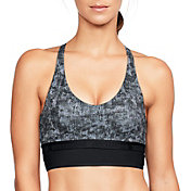 Under Armour Women's Printed Mesh Triangle Back Low-Impact Sports Bralette
