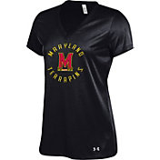 Under Armour Women's Maryland Terrapins 'Maryland Pride' Black UA Tech V-Neck Performance T-Shirt