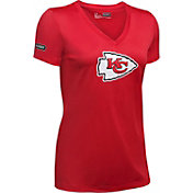 Under Armour NFL Combine Authentic Women's Kansas City Chiefs Logo Red Tech Performance T-Shirt