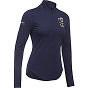 Under Armour NFL Combine Authentic Women's Los Angeles Rams Favorites Half-Zip Navy Pullover