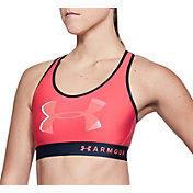Under Armour Women's Mid Keyhole Big Logo Sports Bra
