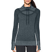 Under Armour Women's Threadborne Seamless Heathered Funnel Neck Long Sleeve Shirt