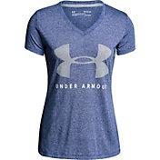 Under Armour Women's Threadborne Siro Train Graphic Twist V-Neck T-Shirt