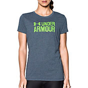 Under Armour Women's Threadborne Graphic Twist Sportstyle Crew T-Shirt