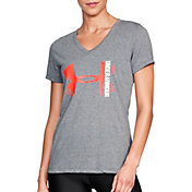 Under Armour Women's Threadborne Siro Big Logo V-Neck T-Shirt