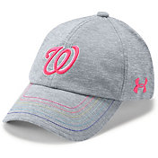 Under Armour Youth Girls' Washington Nationals Twisted Renegade Adjustable Hat
