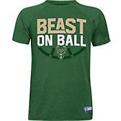 "Under Armour Youth Milwaukee Bucks ""Beast On Ball"" Green Tech Performance T-Shirt"