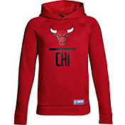 Under Armour Youth Chicago Bulls Red Lockup Fleece Hoodie