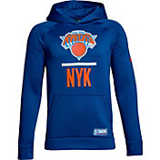 Under Armour Youth New York Knicks Royal Lockup Fleece Hoodie