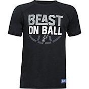 "Under Armour Youth San Antonio Spurs ""Beast On Ball"" Black Tech Performance T-Shirt"