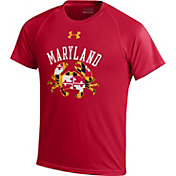 Under Armour Youth Maryland Terrapins 'Maryland Pride' Red Performance T-Shirt