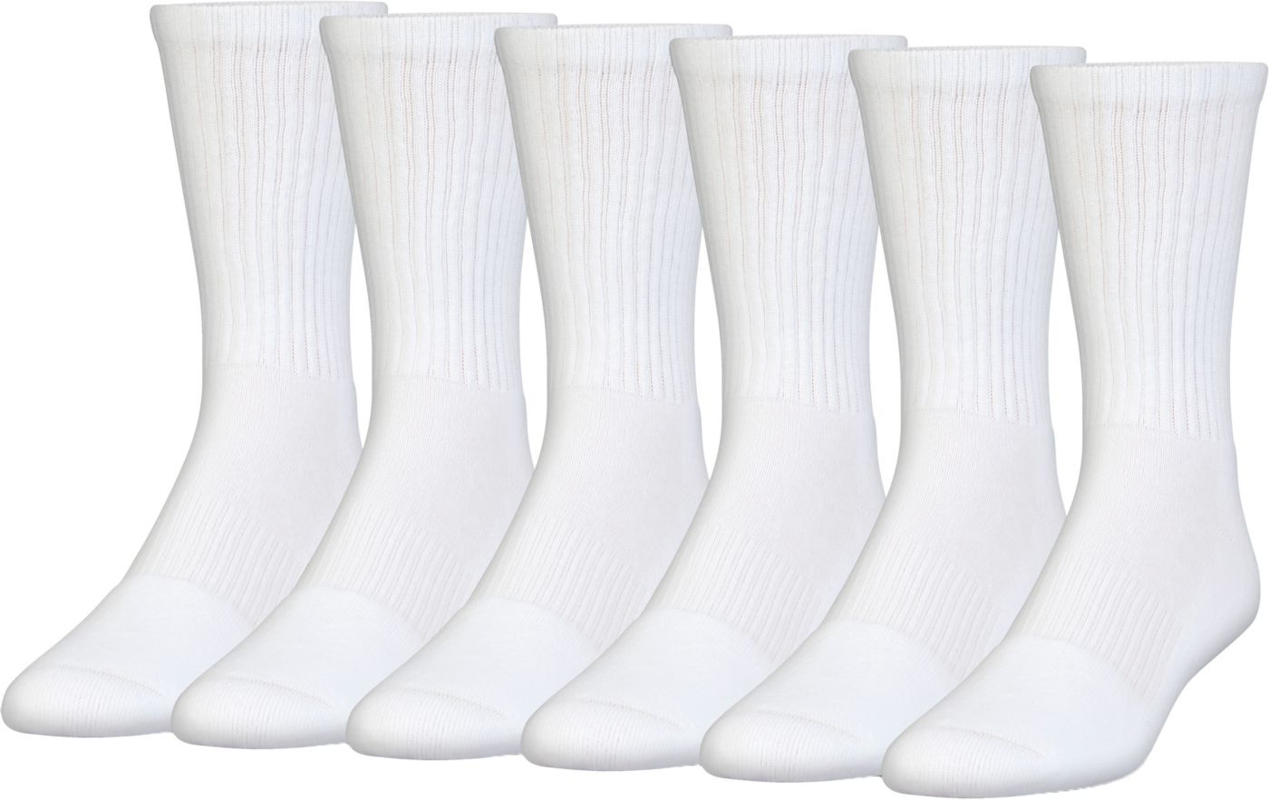 Under Armour Kid's Charged Cotton 2.0 Crew Socks - 6 Pack