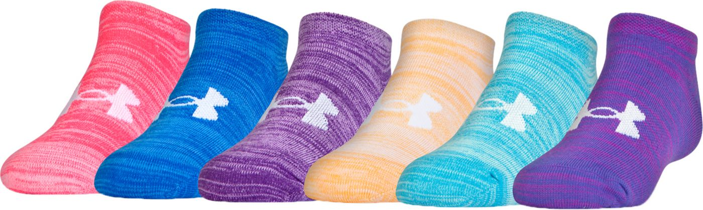 Under Armour Youth Essential Twist No Show Socks - 6 Pack