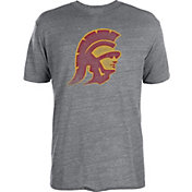 USC Authentic Apparel Men's USC Trojans Heathered Grey Worn Trojan Head T-Shirt