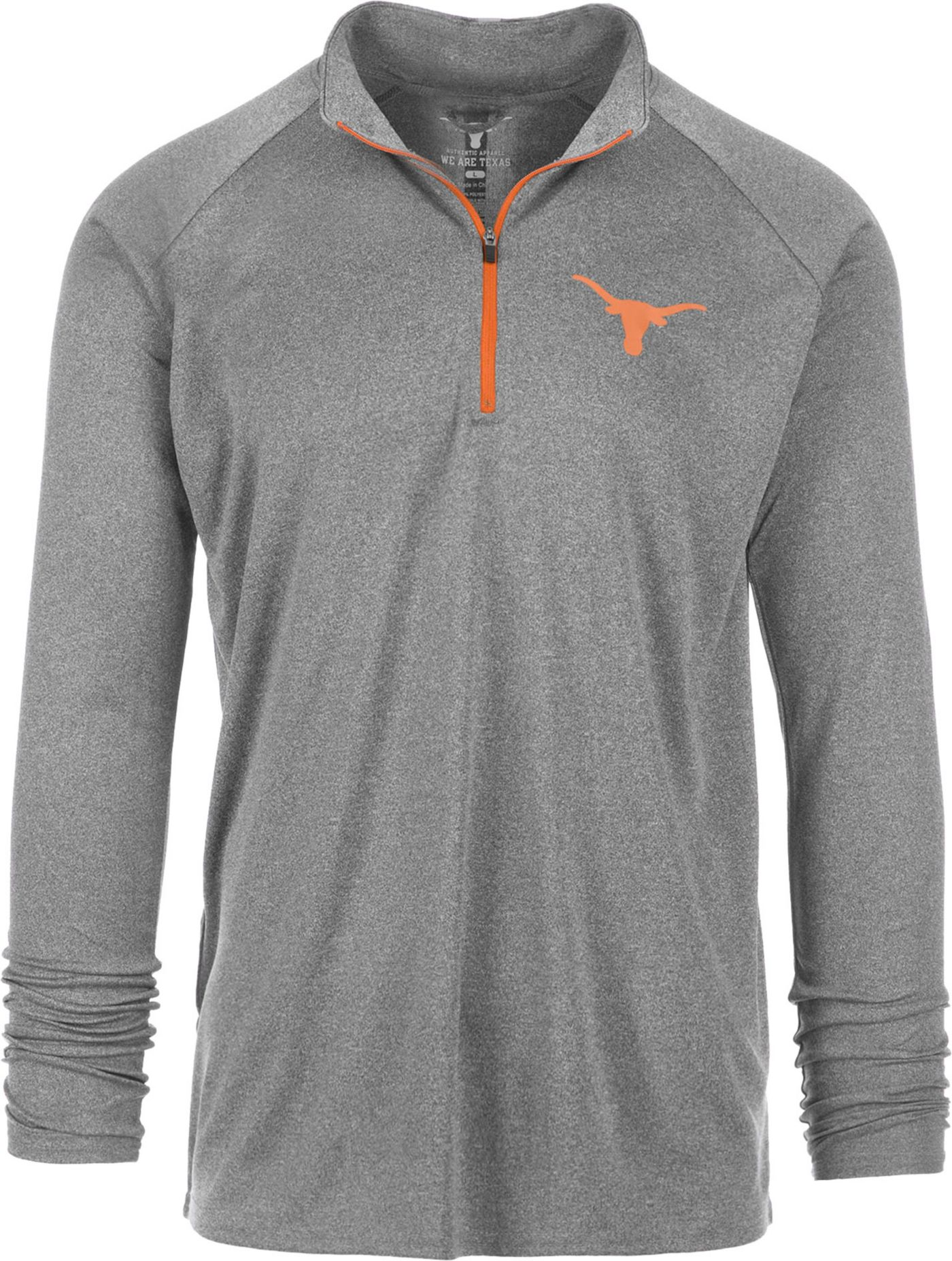 University of Texas Authentic Apparel Men's Texas Longhorns Grey River Quarter-Zip Shirt