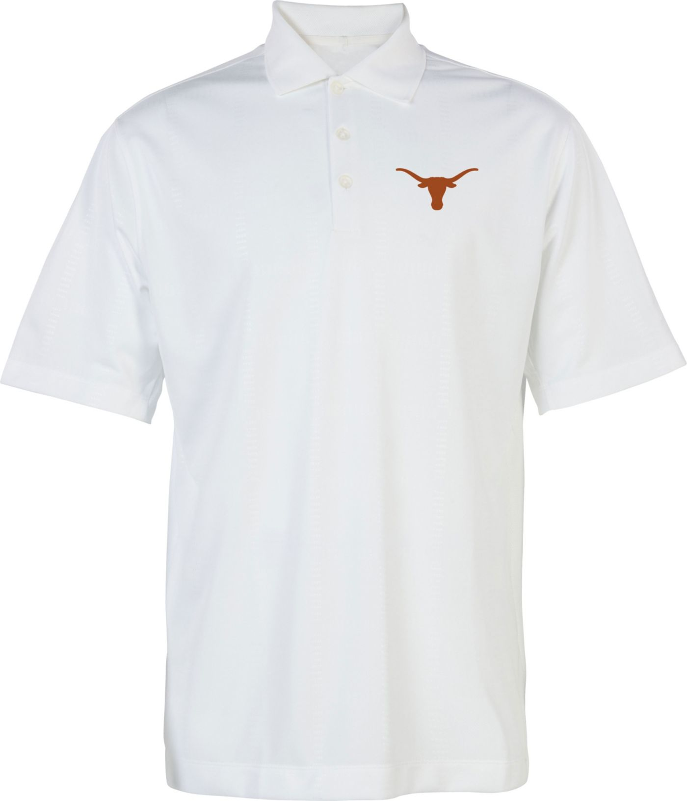 University of Texas Authentic Apparel Men's Texas Longhorns White Silhouette Polo